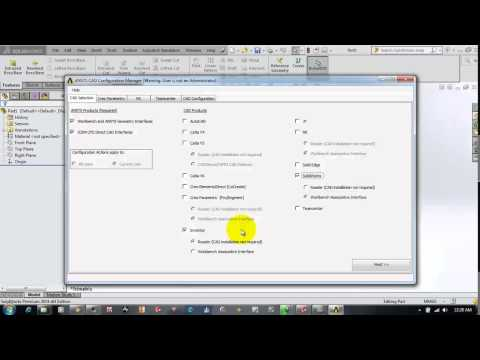 Using Cad Configuration Manager in Ansys