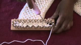 Repeat youtube video CRISS CROSS STITCH (Loom Knitting)