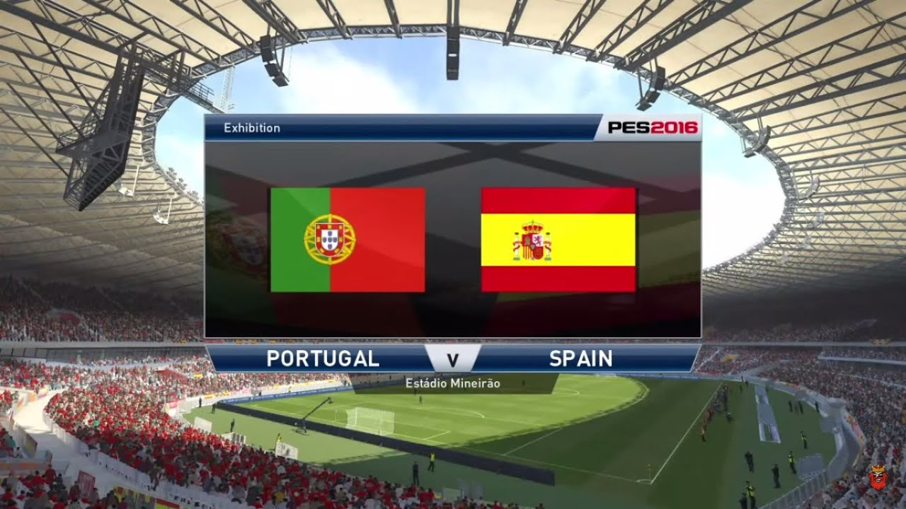 Portugal vs spain full match gameplay pes 2016 youtube for Watches of spain