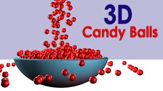 Children learning video learn colors with Funny Bowling Balls 3D wooden hammer Game for Kids Part 4