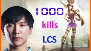 LoL Best Moments #37 Doublelift 1000th Kill in LCS (League of Legends)