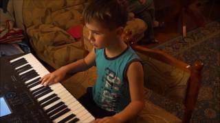 Как быстро научиться играть ребенку на синтезаторе. Песня Катюша