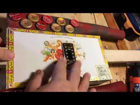 """Cigar Box Guitar Building Tip - Reinforcing """"Neck-Thru"""" Wood for Pickups"""