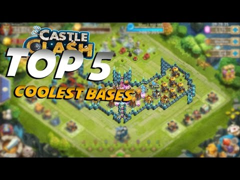 TOP 5 Coolest Bases In Castle Clash