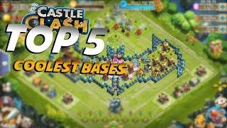 TOP 5 Coolest Bases in Castle Clash