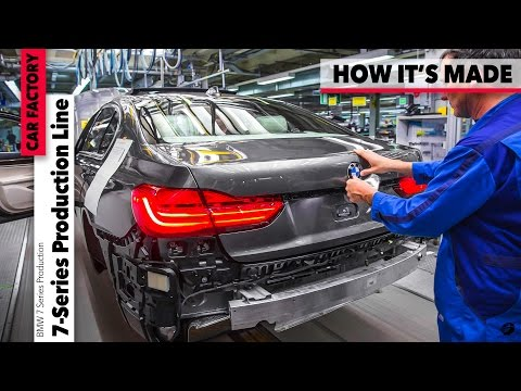 2017 BMW 7 Series Production CAR FACTORY - HOW IT