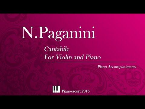 N.Paganini - Cantabile - Violin and Piano - Piano accompaniment