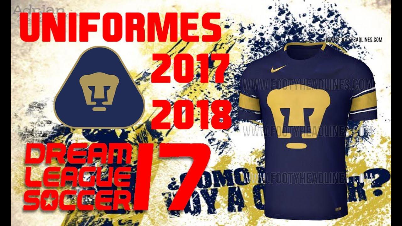 5a5656710 Uniformes Pumas UNAM 2017-2018 Dream League Soccer