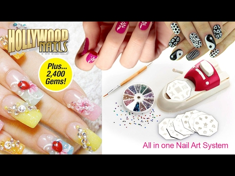 Hollywood Nails All In One Nail Art System Youtube