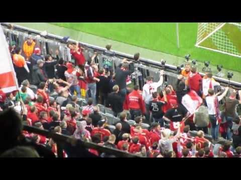 Gol de Robben 3-0 en 73' + Euforia grada que responde al speaker/Bayern Múnich 4-Barça 0