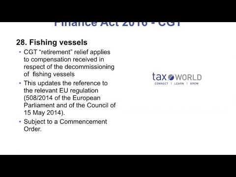 Finance Act 2016 - Fishing Vessels