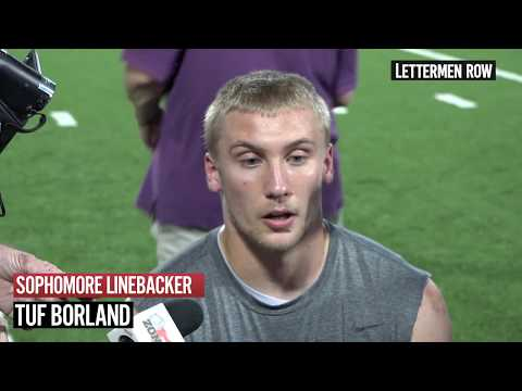 Tuf Borland: Ohio State linebacker meets with media prior to Oregon State - August 28, 2018