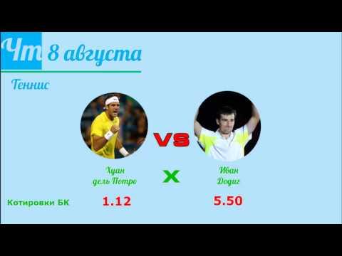 Прогноз на матч по теннису Хуан дель Потро - Иван Додиг, который пройдет 8 августа