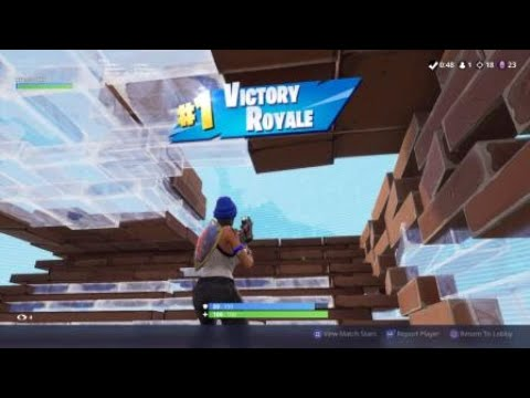 18 Kill Solo W Destroying Pleasant -  PS4 Fortnite Gameplay