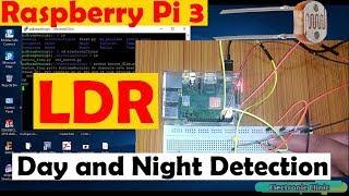 "Raspberry pi 3 tutorial #5: how to use LDR sensor Python Programming ""Beginners level"""