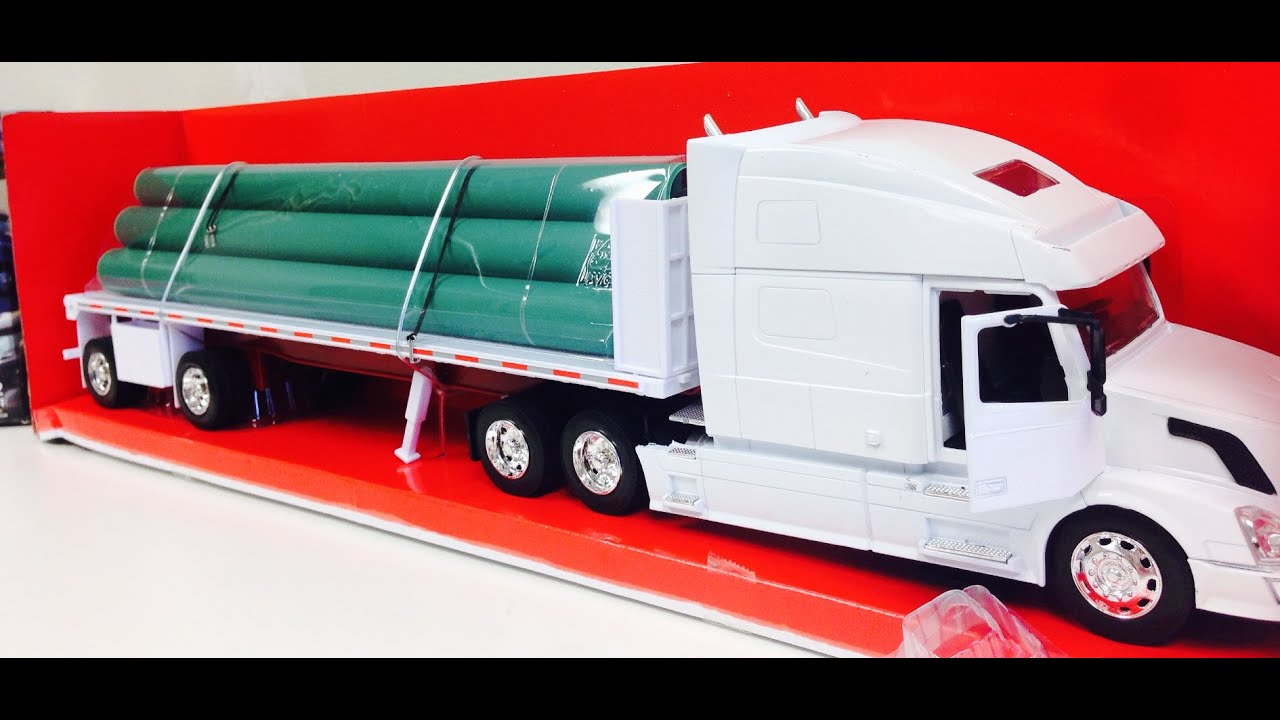 volvo toy truck with long pipes youtube. Black Bedroom Furniture Sets. Home Design Ideas