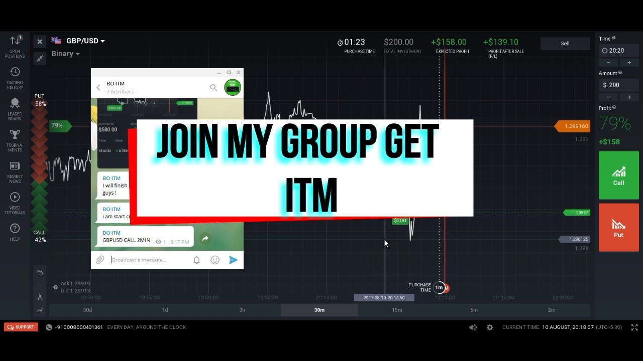 Binary options telegram chat