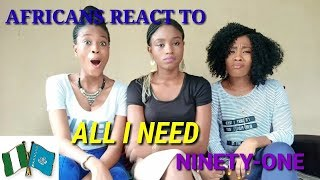 NINETY ONE - ALL I NEED [M/V] Reaction video by The Miller Sisters