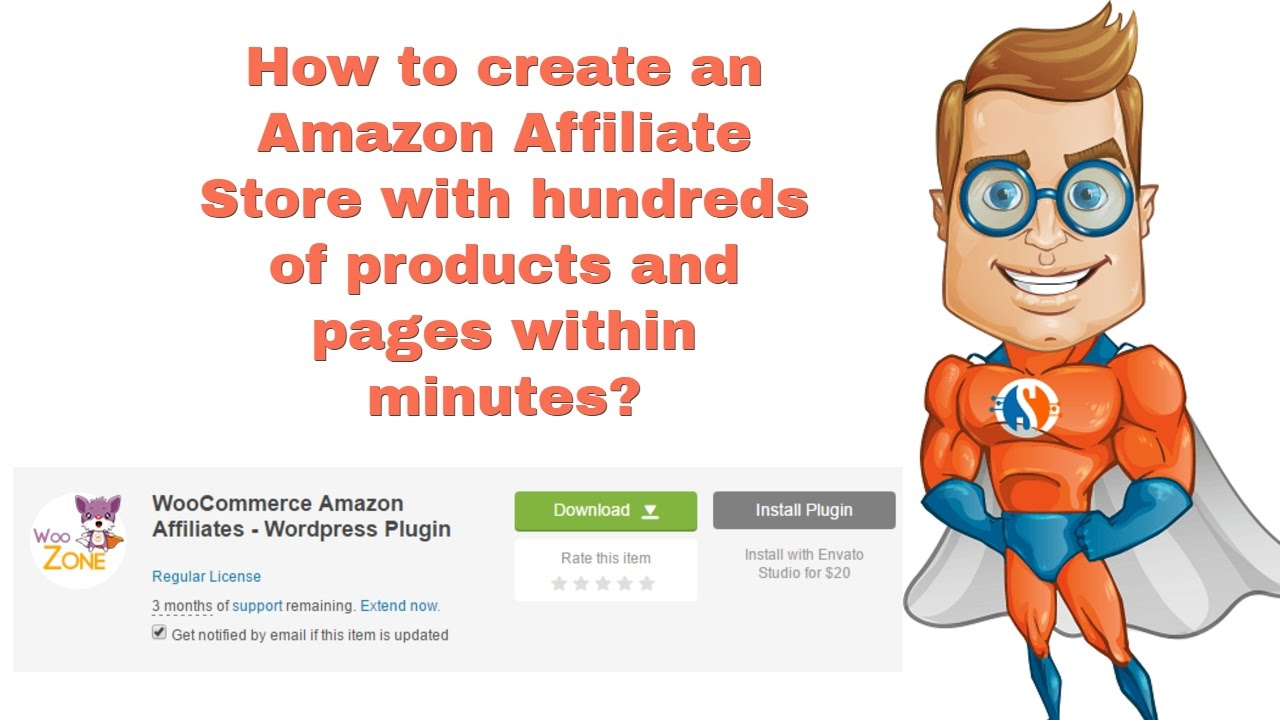 How to create an Amazon Affiliate Store in hours - Tutorial by Super Seo