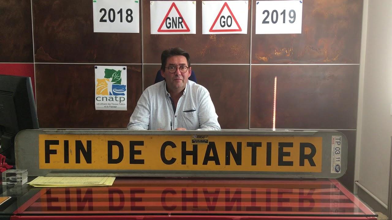 Fin du tarif réduit de TICPE sur le GNR : l'alerte du Président de la CNATP de Vendée