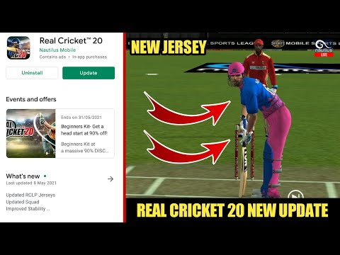 REAL CRICKET 20 MEGA UPDATE || NEW JERSEY, PLAYERS UPDATE, BANNER & OTHERS