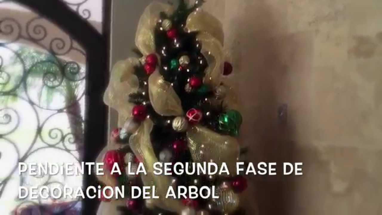 C mo decorar un arbol de navidad primera fase youtube - Como decorar un arbol de navidad ...
