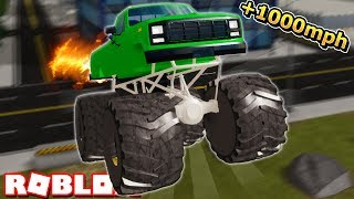GIANT MONSTER TRUCK NEW UPDATE in VEHICLE SIMULATOR! (Roblox)