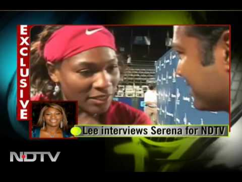 Paes interviews Serena for NDTV