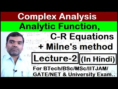 Complex Analysis-Analytic Function(Lecture2)