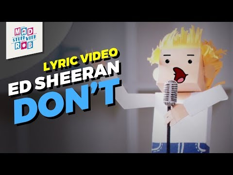 Ed Sheeran - Don't | Lyric Video |...