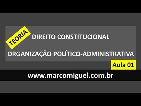 AULA 1 Constitucional: Organização Do Estado - Teoria