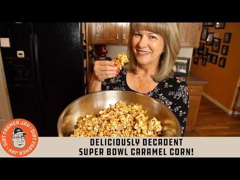 Deliciously Decadent SUPER BOWL Caramel Corn!