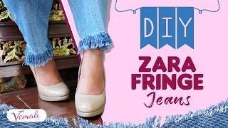 DIY: Fringe Jeans Kekinian, Bikin Celana Belelmu Modis Kembali