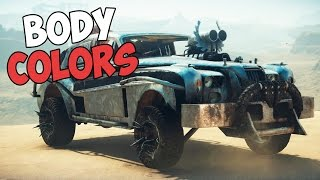 ALL BODY COLORS + TOP DOG LOCATIONS | MAD MAX | SHOWCASE