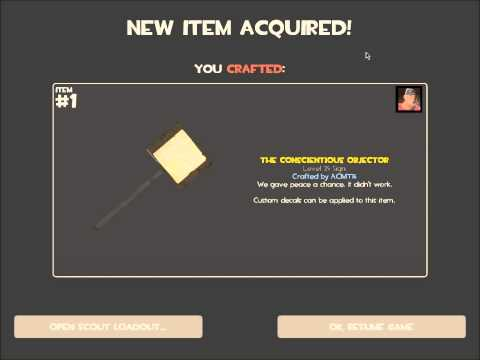 Team Fortress 2 Conscientious Objector Craft