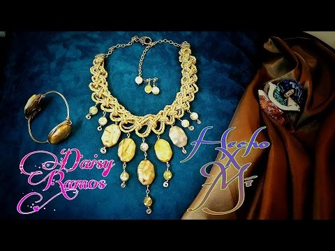 11a67c220c62 Maxi Collar Cuero y Ágatas DIY - YouTube