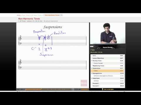AP Music Theory Lesson - Non-Harmonic Tones