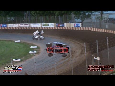 Brandon Thone crash Angell Park Speedway