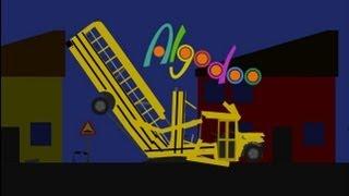 Algodoo / Phun: School Bus Crashes