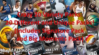20 VARIETY PACKS   NBA LIVE MOBILE