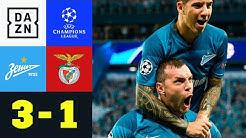 Gruppenführung! St. Petersburg dominiert: Zenit – Benfica 3:1 | UEFA Champions League | DAZN