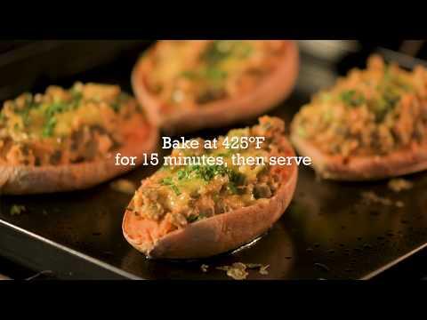 Twice-Baked Lentil Stuffed Sweet Pototoes