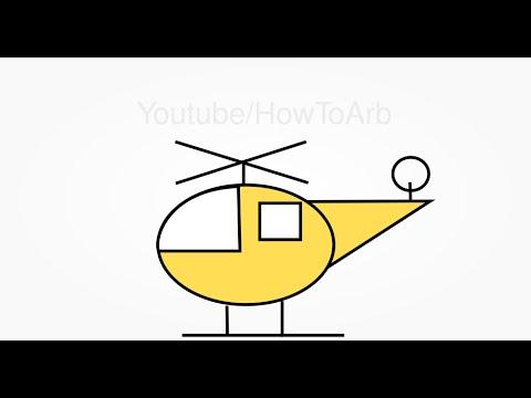 تعلم الرسم للاطفال طريقة رسم طائرة هليكوبتر خطوة بخطوة سهله Draw
