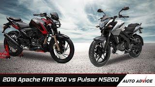 2018 Apache rtr 200 4v vs Pulsar NS200 Comparison