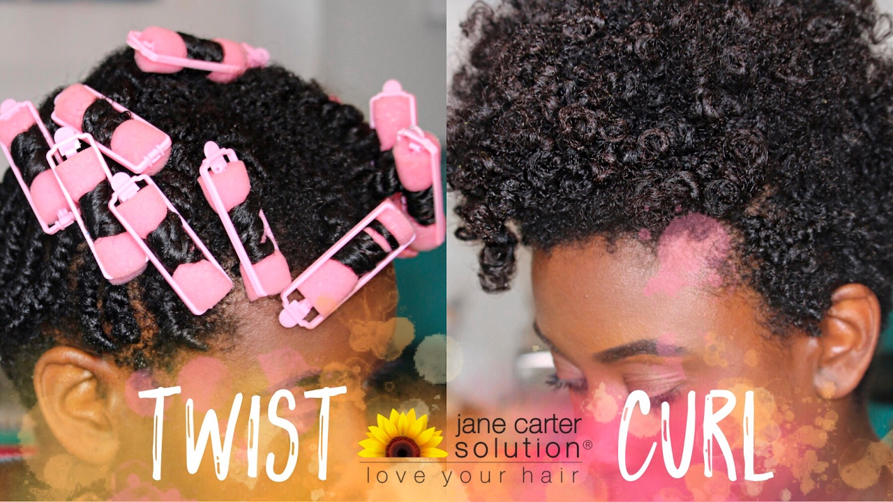 Tapered Cut Twist And Curl With Foam Rollers Using Jane
