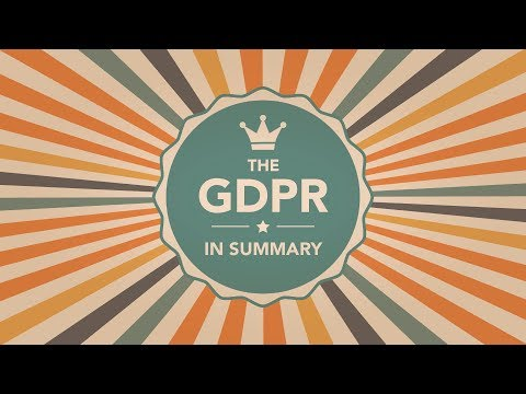 What is the GDPR? | A summary of the EU GDPR