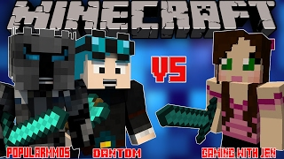 POPULARMMOS W/ DanTDM VS GAMINGWITHJEN! -  Minecraft Story Mode Youtubers Theme