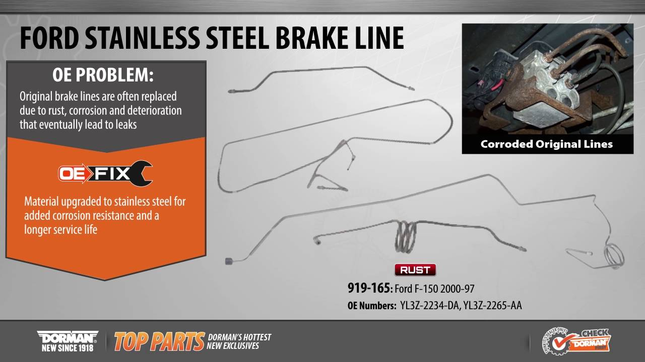 hight resolution of preformed brake lines by dorman products
