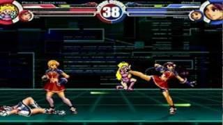 Peach and Ai vs Athena and Maria MUGEN Battle!!!
