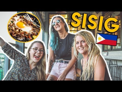 FOREIGN GIRLS TRY FILIPINO SISIG (Sizzling Pig Ears)